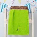"""Махровое полотенце """"Попугай"""", размер 30х60 см, цвет зелёный"""