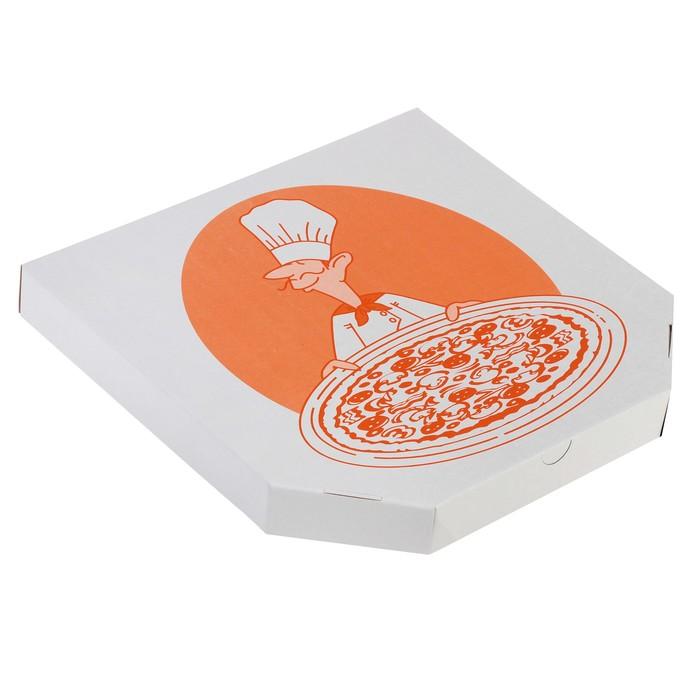 Коробка для пиццы, с печатью, 40 х 40 х 5 см - фото 308984567