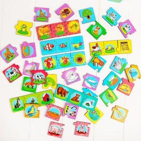 Набор'Мама, малыш, жилище', (пазл-тройной), элемент 5,5 × 5,5 см, 16 мини-пазлов Ош