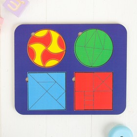 Рамка - вкладыш «Головоломка. Геометрические фигуры» МИКС, без инструкции