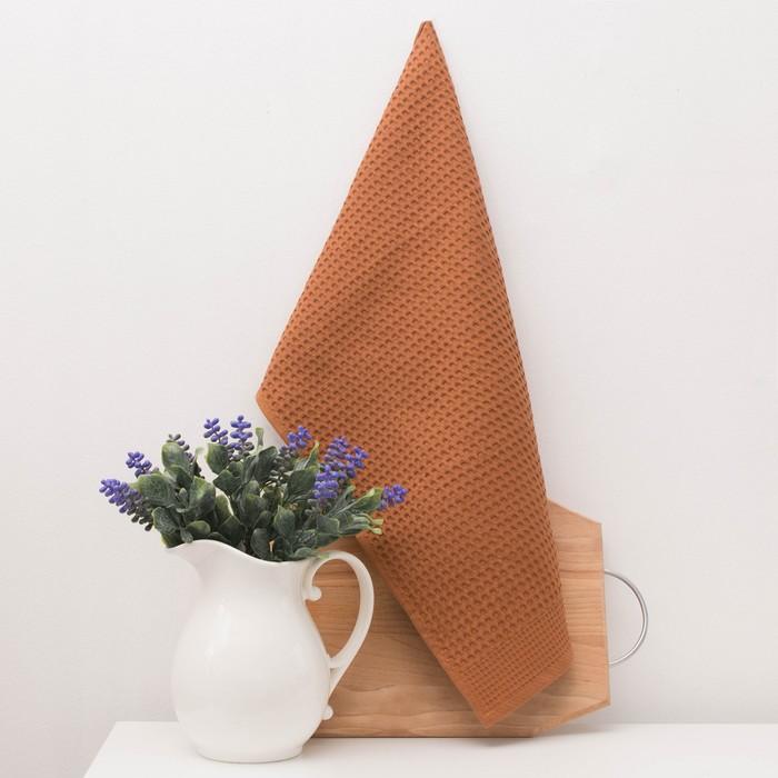 """Вафельное полотенце """"Twill"""" 30х50 см, охра 220 г/м2, 100% хлопок"""
