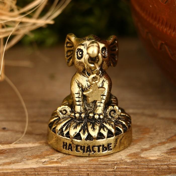 "Фигурка слон ""На счастье"", 3,5 х 2,6 х 2,5 см"