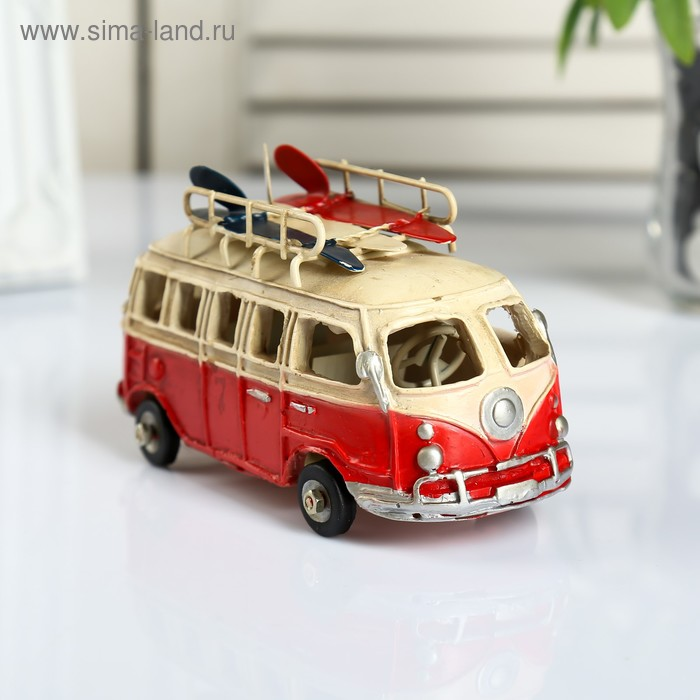 "Сувенир металл ""Автобус серфингиста"" 8х14х6 см"