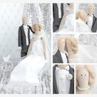 Набор для шитья : Свадебные куклы Mr&Mrs, 18 х 22 х 3,6 см