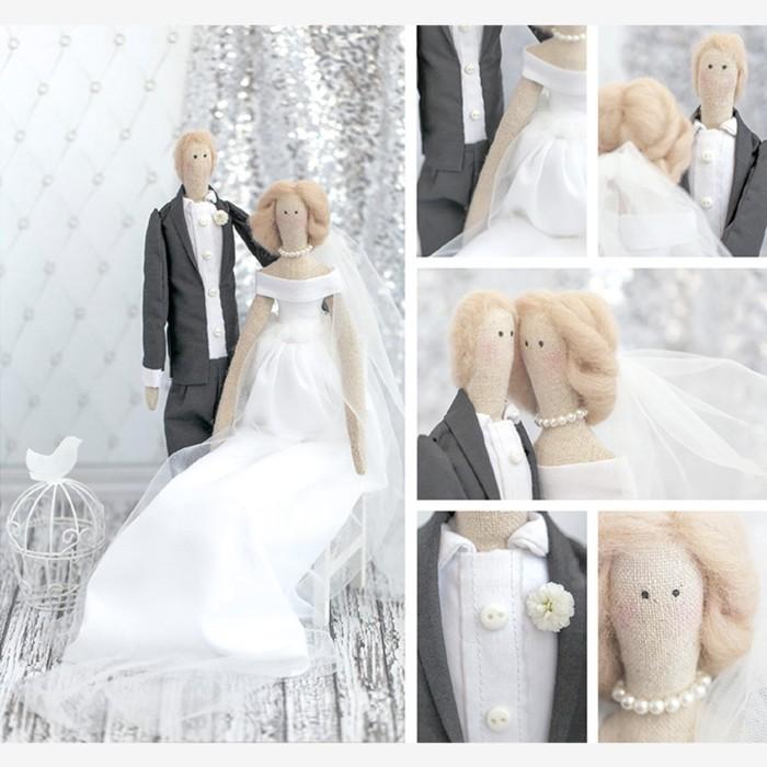 Свадебные куклы Mr&Mrs, набор для шитья, 18 × 22 × 3,6 см