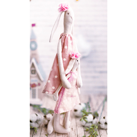 Мягкие зайки «Мама с дочкой», набор для шитья, 18 × 22 × 3.6 см