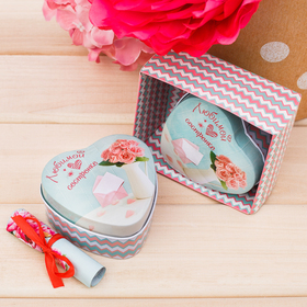 """The box and the card, """"Beloved sister"""" gift box"""