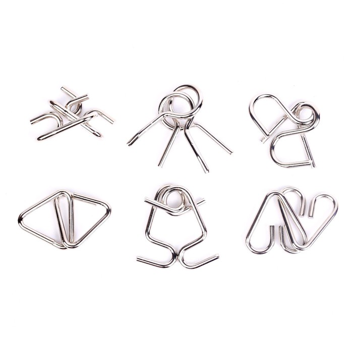"""Головоломка металлическая """"Загадки Древнего Китая"""" набор 6 шт."""