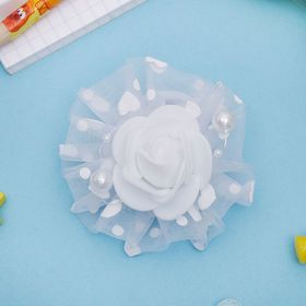 Резинка для волос бант 'Школьница' d-7 см роза Ош