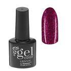 Гель-лак для ногтей, 5284-396, трёхфазный, LED/UV, 10мл, цвет 5284-396 вишнёвый блёстки