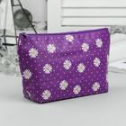 Косметичка простая, отдел на молнии, цвет фиолетовый