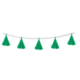 Гирлянда-тассел «Кисточки», в наборе 5 кисточек, цвет зелёный Ош