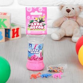 Аквапесок «Зоопарк» с растущими игрушками и гидрогелем