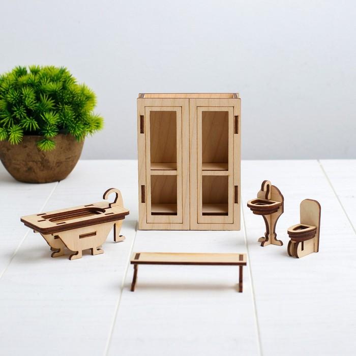 Конструктор «Ванная» набор мебели - фото 105510870