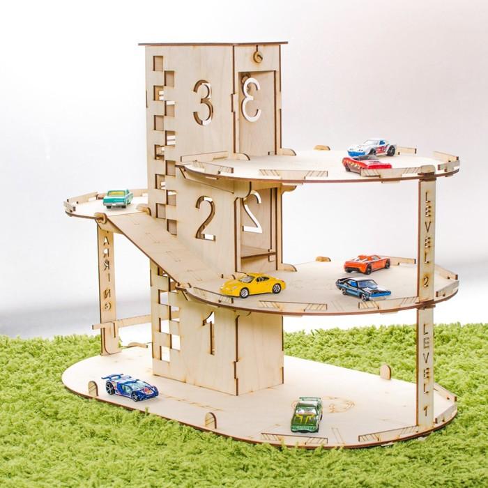"""Конструктор """"Автопаркинг с лифтом для машин"""", фанера: 3 мм"""