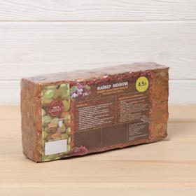 Субстрат кокосовый (чипсы) в блоке, 21 × 11 × 7 см, 4,5 л, индивидуальная упаковка