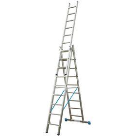 Лестница KRAUSE STABILO, трехсекционная, с траверсой, с доп. функцией, 10 ступеней