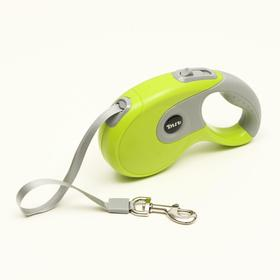 DIIL tape measure, 5 m, up to 40 kg, tape, rubberized handle, green with gray