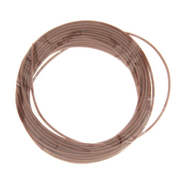 Пластик PCL для 3D ручки, длина 5 м, d=1,75 мм, цвет коричневый