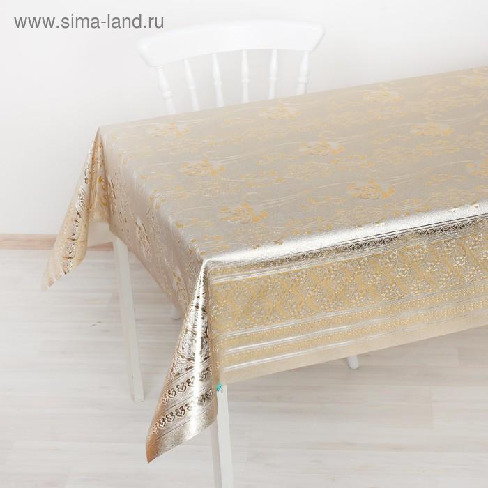 Клеенка столовая на тканевой основе, ширина 137 см, толщина 0,25 мм, рулон 20 м