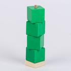 """Пирамидка """"Дидактическая №1"""" куб(зеленая)"""