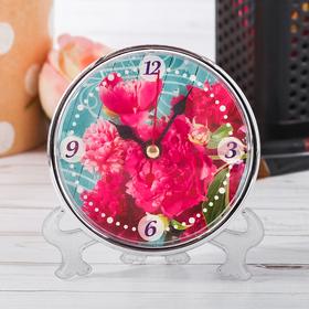 """Table clock """"Peonies"""""""