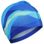 Шапочка для плавания, взрослая, текстиль, цвет синий