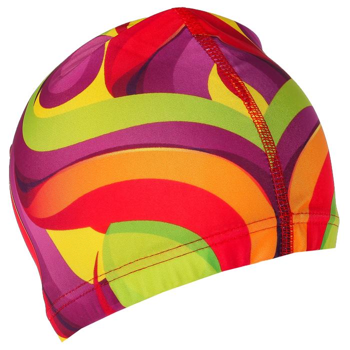 Шапочка для плавания, взрослая OL-026, текстиль, цвет жёлтый