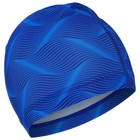 Шапочка для плавания, взрослая OL-031, текстиль, цвет голубой