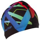 Шапочка для плавания, взрослая OL-025, текстиль, абстракция, цвет черный