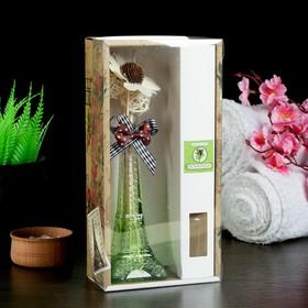 "Gift set""Eiffel tower""(vase,2 sticks with beads,decor,essential oils 30 ml), sandalwood"