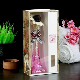 "Gift set""Eiffel tower""(vase,2 sticks with beads,decor,essential oils 30 ml), Sakura"