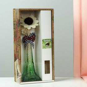"Set ""Eiffel tower"": a vase, 2 sticks with beads, decor, fragrance oil 30 ml fresh forest"