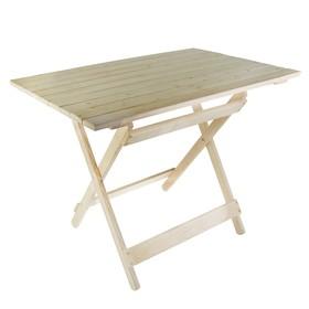 Стол прямоугольный складной 1000*750*600мм (дерево хвоя) Ош