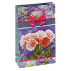 "Пакет подарочный ""Цветочный рай"" 16,5 х 7 х 26,5 см"