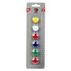 Магниты для досок 20 мм 6 штук GLOBUS микс*5 цветов МЦ20