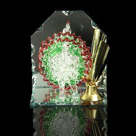 Сувенир на зеркале с подставкой для ручек 'Павлин' на зеркале Ош