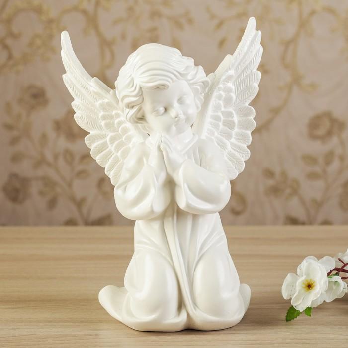 """Статуэтка """"Ангел с крыльями"""" белый, 29 см"""