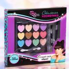 Набор косметики для девочки тени 14,4 гр, кисть, кисть-аппликатор, аппликатор