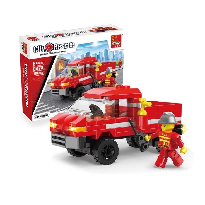 Конструктор «Пожарная Команда», 99 деталей