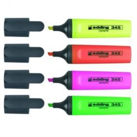 Набор маркеров-текстовыделителей 4 цвета 5.0 мм EDDING E-345/4S