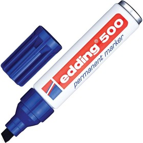 Маркер перманентный скошенный 2.0-4.0 мм EDDING E-500/3 синий металлический корпус