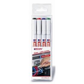 Набор маркеров для кабеля Edding E-8407/S 4 цвета 0.3 мм