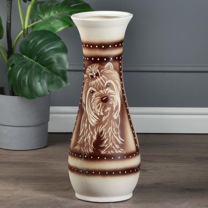 """Ваза напольная """"Осень"""", коричневая, 58 см, микс, керамика - фото 809921"""