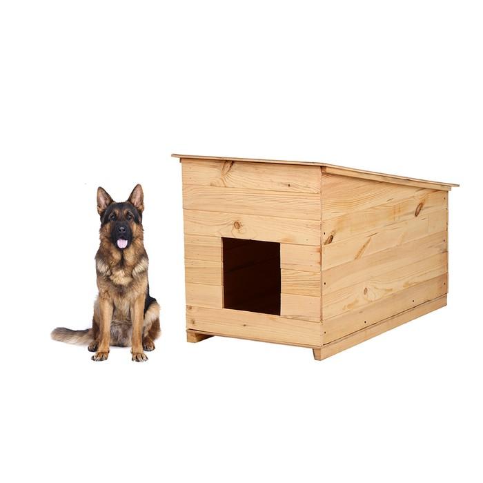 Будка для собаки, 70 × 60 × 110 см, деревянная, с крышей