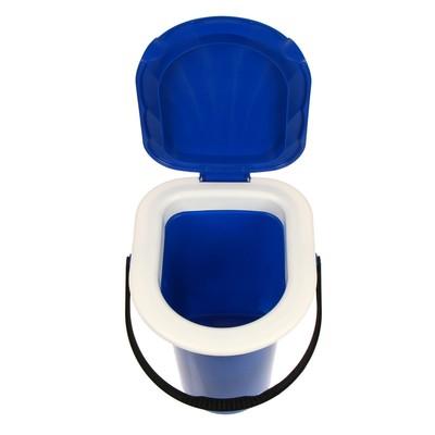Ведро-туалет, 18 л, синий