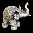 "Сувенир полистоун ""Индийский слон в попоне с узорами"" 13х14,8х7,3 см"