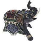 "Сувенир полистоун ""Чёрный слон в царской попоне"" 17,5х19,5х8,5 см"