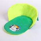 Матрас для санок на липучке «Давай подружимся», цвет салатно-зелёный