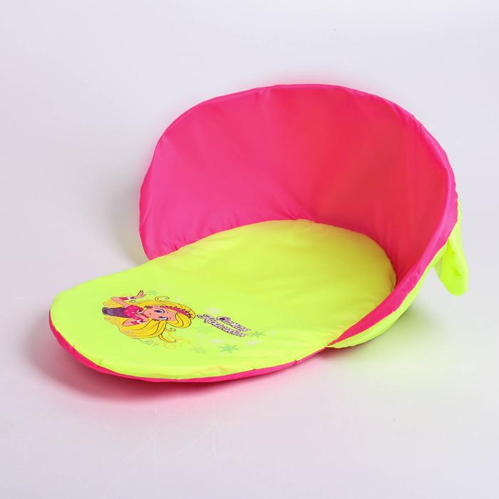 """Матрас для санок на липучке """"Самая красивая"""", цвет розово-салатный"""